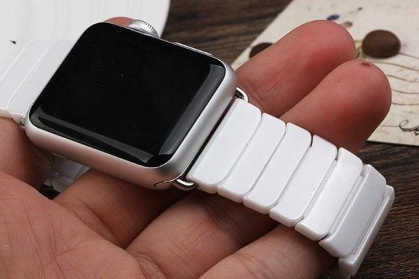 Keramische vervangend bandje voor Apple Watch iwatch Series 1-2-3 42mm wit-012