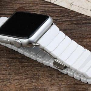 Keramische vervangend bandje voor Apple Watch iwatch Series 1-2-3 42mm wit-017