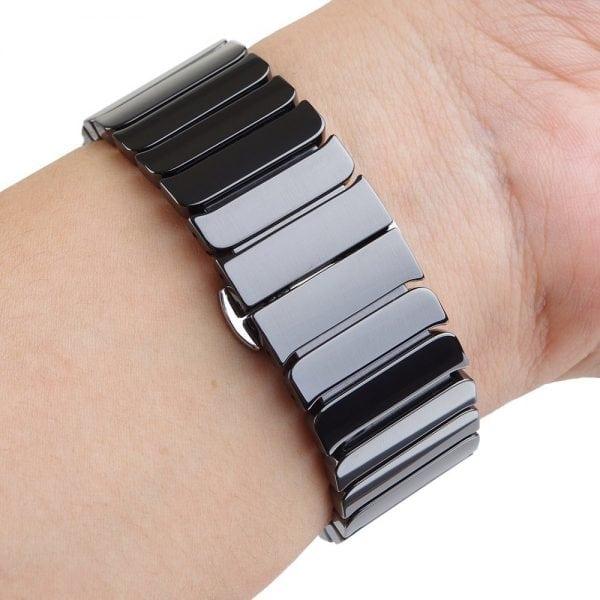 Keramische vervangend bandje voor Apple Watch iwatch Series 1-2-3 42mm zwart-006