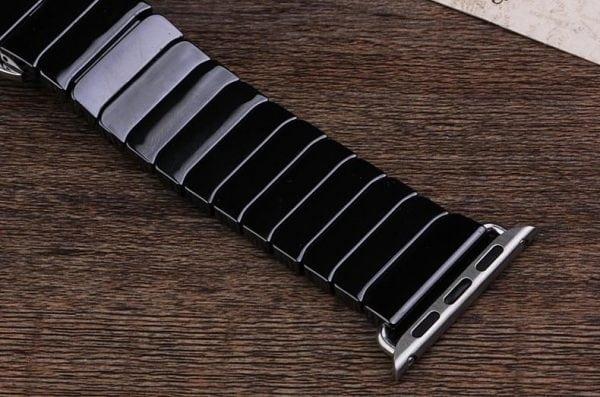 Keramische vervangend bandje voor Apple Watch iwatch Series 1-2-3 42mm zwart-008