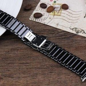 Keramische vervangend bandje voor Apple Watch iwatch Series 1-2-3 42mm zwart-009