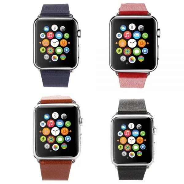 Luxe Classic Lederen armband voor de Apple Watch