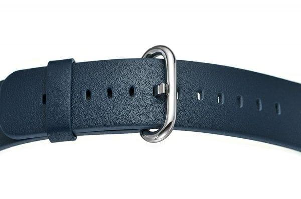 Luxe Classic Lederen armband voor de Apple Watch blauw-002