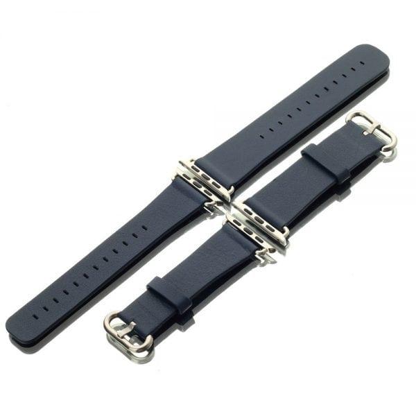 Luxe Classic Lederen armband voor de Apple Watch blauw-006