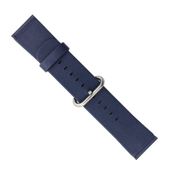 Luxe Classic Lederen armband voor de Apple Watch blauw-007