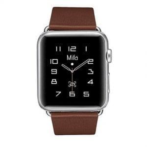 Nieuwe lederen band met klassieke gesp voor Apple Watch band bruine kleur 42mm - 44mm vervangende horlogeband voor Iwatch Series 3/2/1