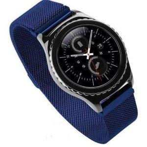 Milanese Loop rvs rose blauw bandje voor de Samsung Gear S3 S3 Frontier S3 Classic-003