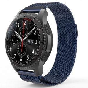 Milanese Loop rvs rose blauw bandje voor de Samsung Gear S3 S3 Frontier S3 Classic-009