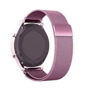 Milanese Loop rvs roze roze bandje voor de Samsung Gear S3 S3 Frontier S3 Classic-001