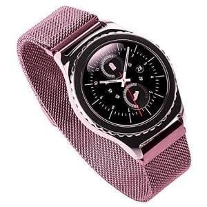 Milanese Loop rvs roze roze bandje voor de Samsung Gear S3 S3 Frontier S3 Classic-002