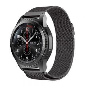 Milanese Loop rvs zwart bandje voor de Samsung Gear S3 S3 Frontier S3 Classic-010