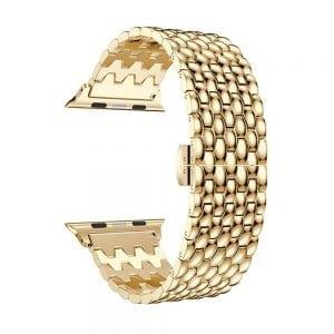 RVS goud metalen bandje armband voor de Apple Watch iwatch-001