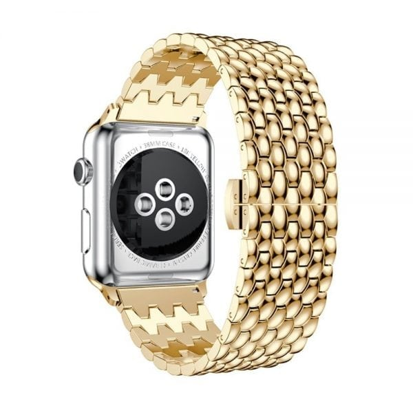 RVS goud metalen bandje armband voor de Apple Watch iwatch-002