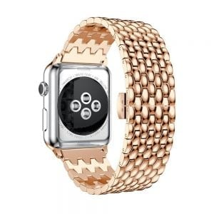 RVS rose goud metalen bandje armband voor de Apple Watch iwatch-001