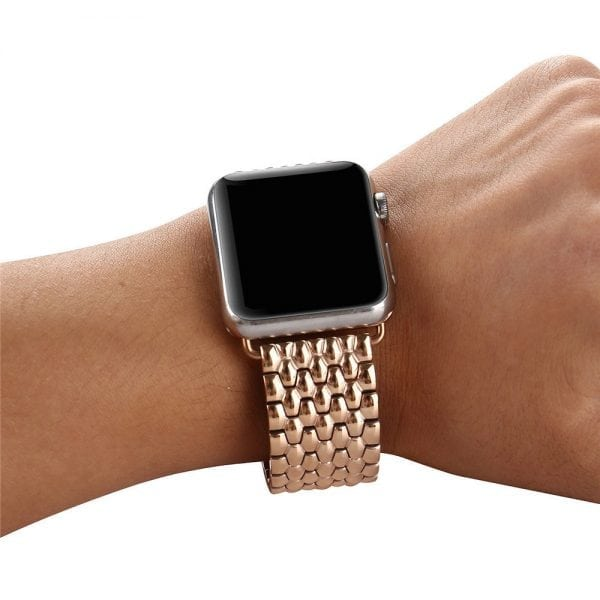 RVS rose goud metalen bandje armband voor de Apple Watch iwatch-006