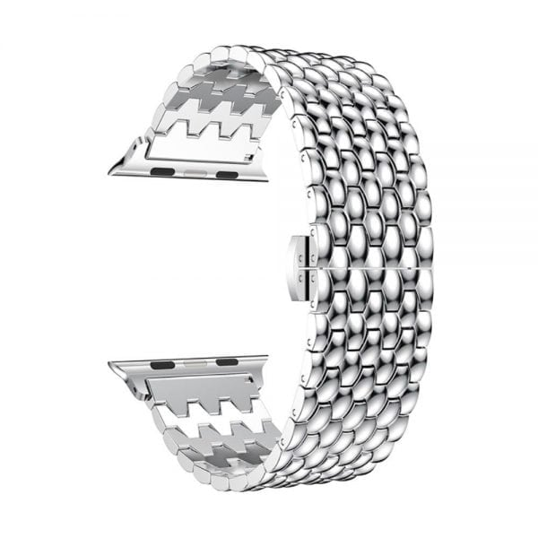 RVS zilver metalen bandje armband voor de Apple Watch iwatch-001