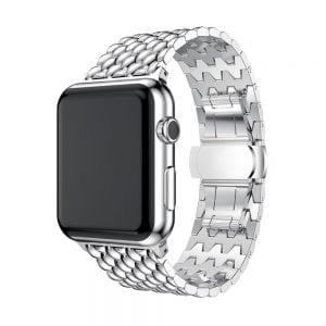 RVS zilver metalen bandje armband voor de Apple Watch iwatch-003