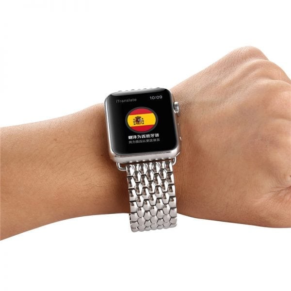 RVS zilver metalen bandje armband voor de Apple Watch iwatch-006