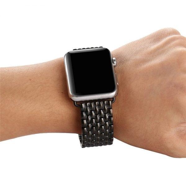 RVS zwart metalen bandje armband voor de Apple Watch iwatch-001