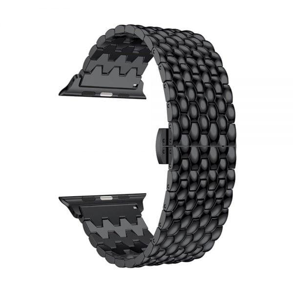RVS zwart metalen bandje armband voor de Apple Watch iwatch-002