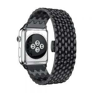RVS zwart metalen bandje armband voor de Apple Watch iwatch-003