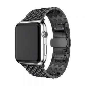 RVS zwart metalen bandje armband voor de Apple Watch iwatch-004