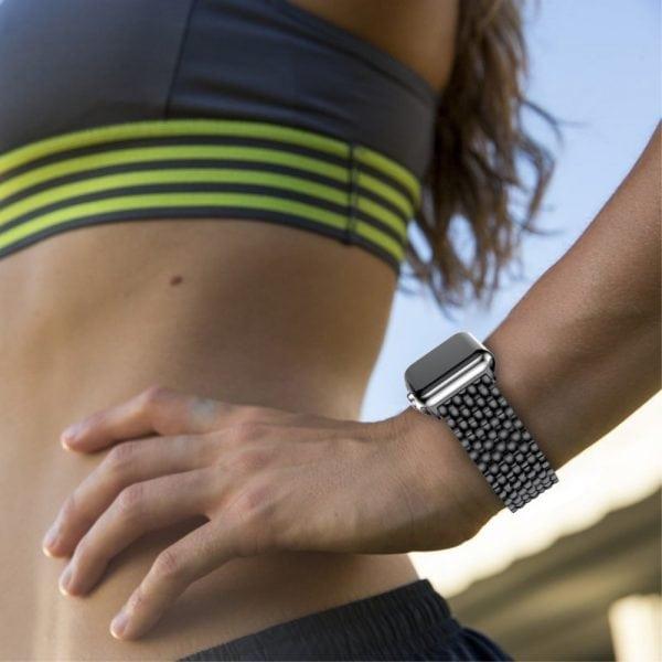 RVS zwart metalen bandje armband voor de Apple Watch iwatch-006