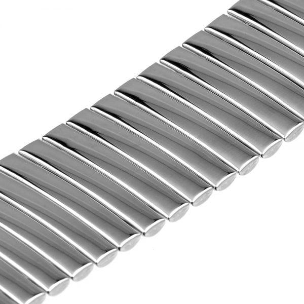 Rvs Elastische Horlogeband Band Armband met Link Adapter voor Apple Watch 42mm zilver kleurig-001