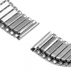 Rvs Elastische Horlogeband Band Armband met Link Adapter voor Apple Watch 42mm zilver kleurig-002