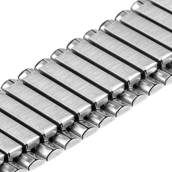 Rvs Elastische Horlogeband Band Armband met Link Adapter voor Apple Watch zilver kleurig-007