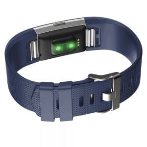 Luxe Siliconen Bandje voor FitBit Charge 2 – blauw-001