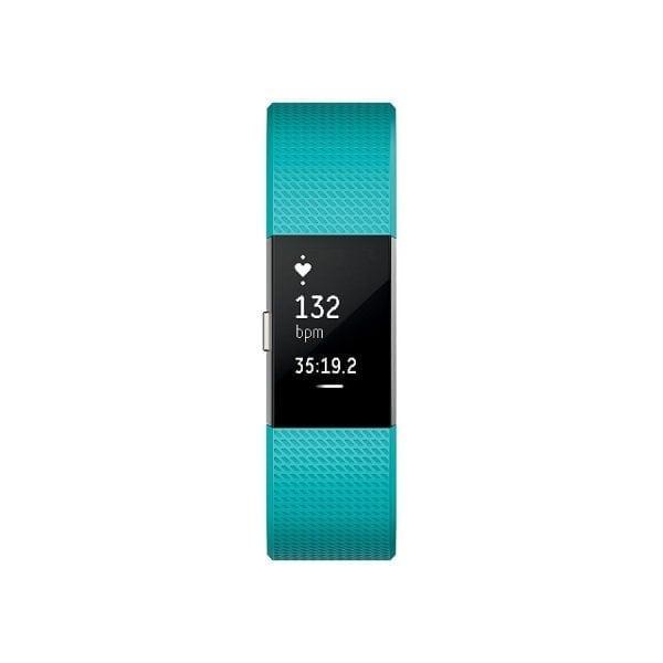 Luxe Siliconen Bandje SMALL voor FitBit Charge 2 – groen blauw