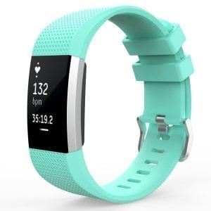 Luxe Siliconen Bandje  large voor FitBit Charge 2 – mint