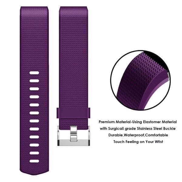 Luxe Siliconen Bandje voor FitBit Charge 2 – paars-003