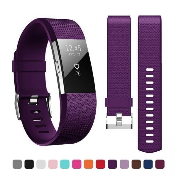 Luxe Siliconen Bandje voor FitBit Charge 2 – paars-005