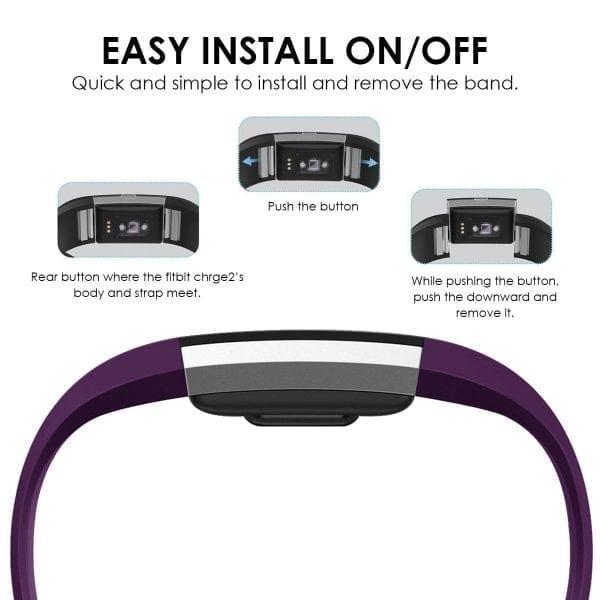 Luxe Siliconen Bandje voor FitBit Charge 2 – paars-007