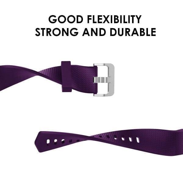 Luxe Siliconen Bandje voor FitBit Charge 2 – paars-009