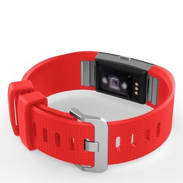 Luxe Siliconen Bandje voor FitBit Charge 2 – rood-001