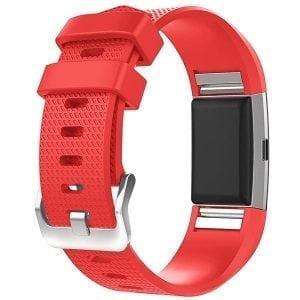 Luxe Siliconen Bandje voor FitBit Charge 2 – rood-004