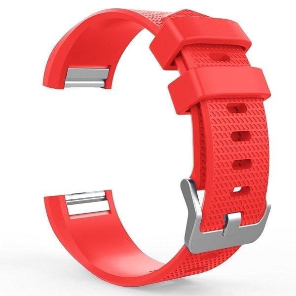 Luxe Siliconen Bandje voor FitBit Charge 2 – rood