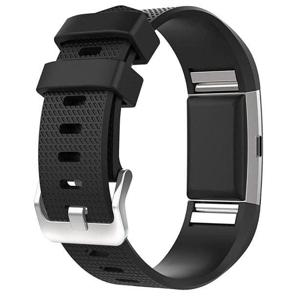 Luxe Siliconen Bandje voor FitBit Charge 2 – zwart-002