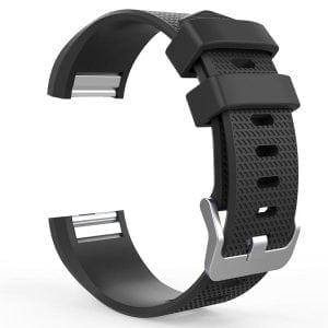 Luxe Siliconen Bandje voor FitBit Charge 2 – zwart-003