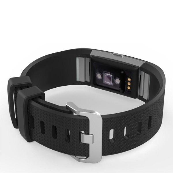 Luxe Siliconen Bandje voor FitBit Charge 2 – zwart-004