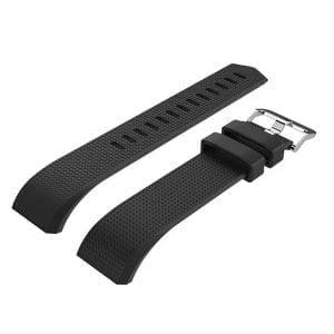 Luxe Siliconen Bandje voor FitBit Charge 2 – zwart-005