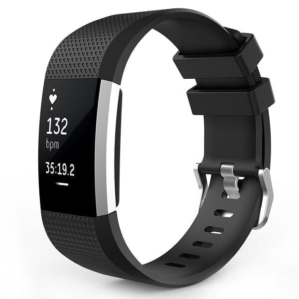 Luxe Siliconen Bandje voor FitBit Charge 2 – zwart-006