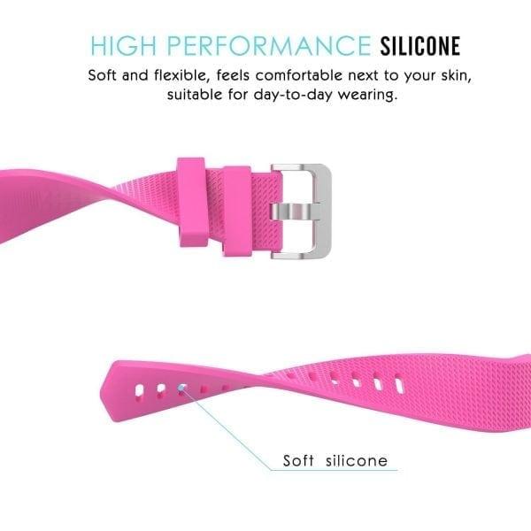 Luxe Siliconen Bandje voor FitBit Charge 2 –roze-004