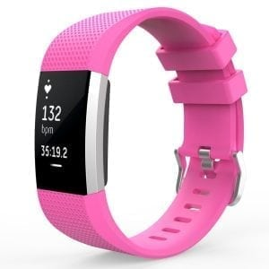 Luxe Siliconen Bandje  large voor FitBit Charge 2 –roze