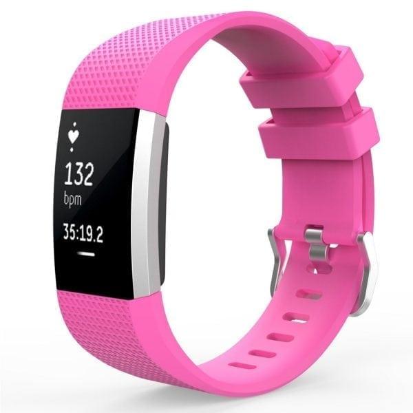 Luxe Siliconen Bandje voor FitBit Charge 2 –roze-005