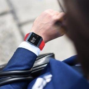 Luxe Siliconen Bandje voor FitBit Ionic – Rood-003