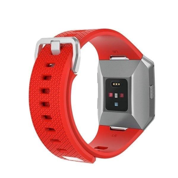 Luxe Siliconen Bandje voor FitBit Ionic – Rood-005